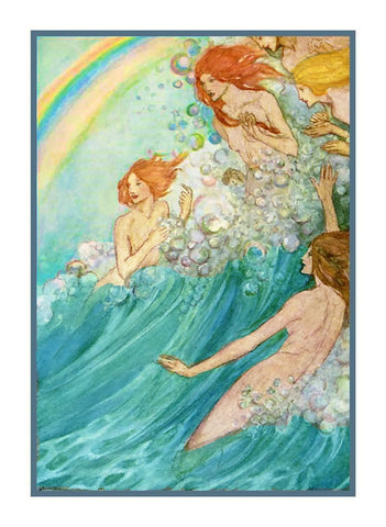 Pre Raphaelite Florence Harrison Fairies of the Sea Counted Cross Stitch Pattern