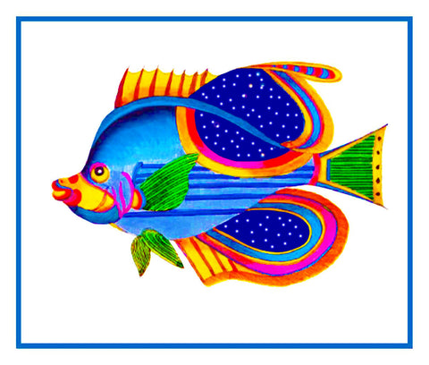 Fallours' Renard's Fantastic Colorful Tropical Fish 2 Counted Cross Stitch or Counted Needlepoint Pattern