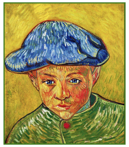 Portrait of a Young Boy by Vincent Van Gogh Counted Cross Stitch or Counted Needlepoint Pattern