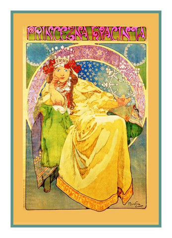 Princess Hyacinth by Alphonse Mucha Counted Cross Stitch Pattern