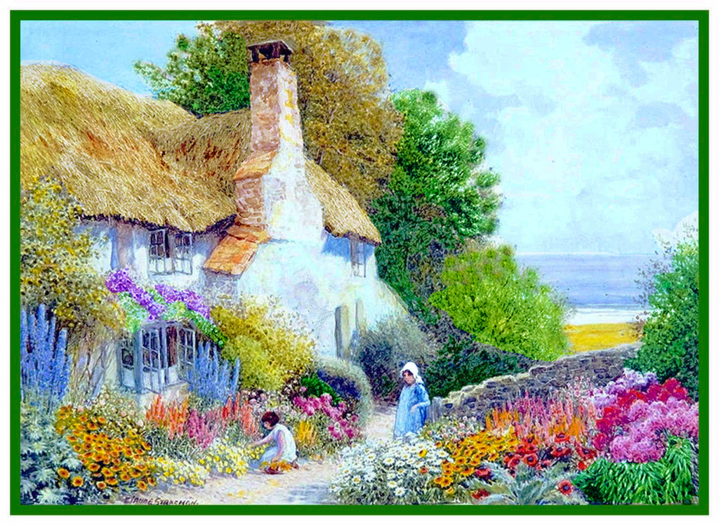 Seaside Garden at English Country Cottage Strachan Counted Cross Stitch Pattern