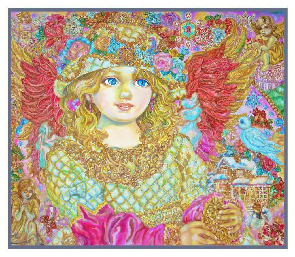 Angel of Christmas Spirit inspired by Yumi Sugai Counted Cross Stitch or Counted Needlepoint Pattern - Orenco Originals LLC