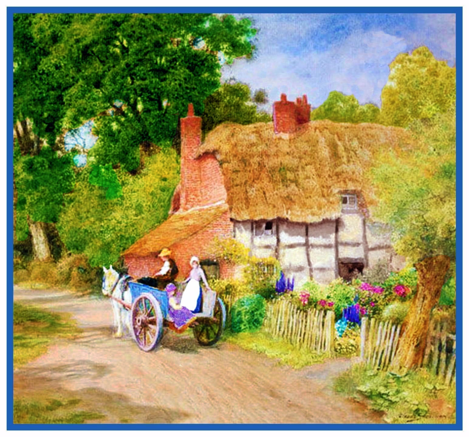 Rural Landscape Country View Scene Counted Cross Stitch Kit