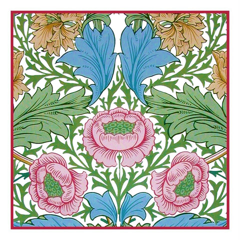 Arts & Crafts Style William Morris Myrtle Design Counted Cross Stitch Pattern