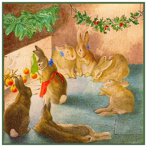 Peter Rabbit Family Christmas inspired by Beatrix Potter Counted Cross Stitch Pattern DIGITAL DOWNLOAD