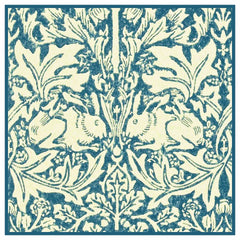 Brother Rabbits Hares in Blues by William Morris Design Counted Cross Stitch  Pattern - Orenco Originals LLC