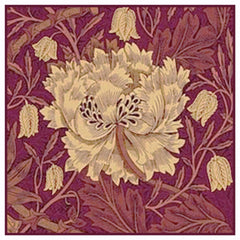 Burgundy Marigold detail by William Morris Design Counted Cross Stitch or Counted Needlepoint Pattern - Orenco Originals LLC