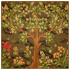 Flowering Tree in Browns SQUARE by William Morris Counted Cross Stitch or Counted Needlepoint Pattern