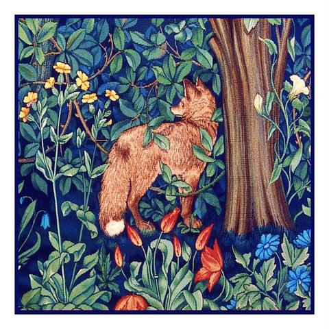 Forest Fox Henry Dearle and William Morris Design Counted Cross Stitch Pattern