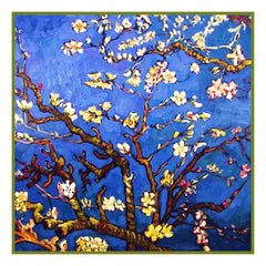 Almond Branches inspired by Impressionist Vincent Van Gogh's Painting Counted Cross Stitch  Pattern - Orenco Originals LLC