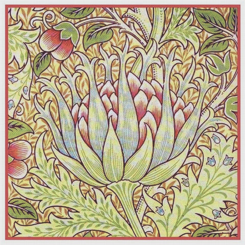 Artichoke design by William Morris Counted Cross Stitch Pattern DIGITAL DOWNLOAD