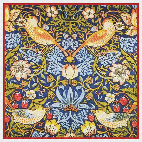 The Strawberry Thief design by William Morris Counted Cross Stitch Pattern