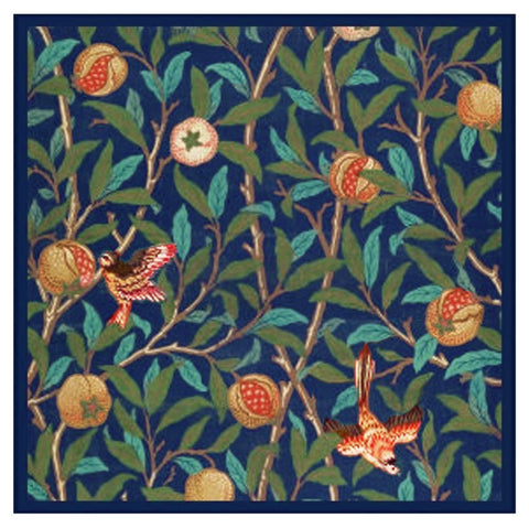 William Morris Birds and Pomegranates Design Counted Cross Stitch Pattern
