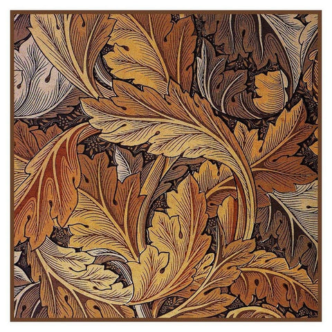 William Morris Gold Acanthus Leaves Design Counted Cross Stitch Pattern DIGITAL DOWNLOAD
