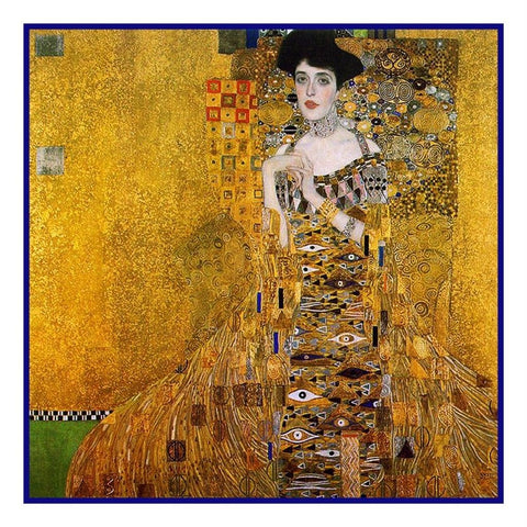 Art Nouveau Gustav Klimt Portrait Adele #2 Counted Cross Stitch Chart Pattern