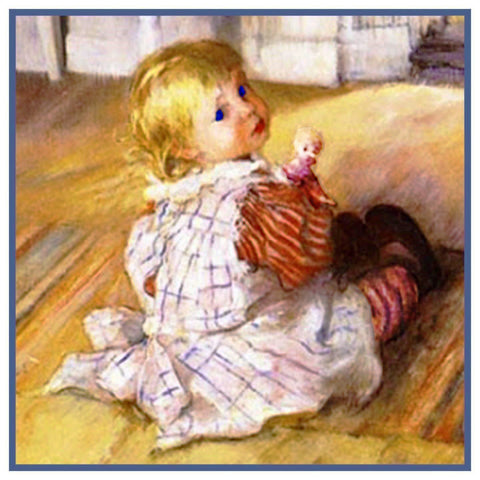Carl Larsson Son Pontus as a Baby Counted Cross Stitch Chart Pattern