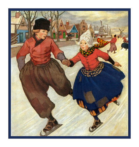 Hans Brinker and the Silver Skates By Jessie Willcox Smith Counted Cross Stitch Pattern