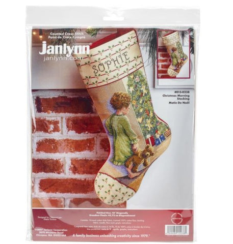 Christmas Morning by Janlynn Counted Cross Stitch Stocking Kit