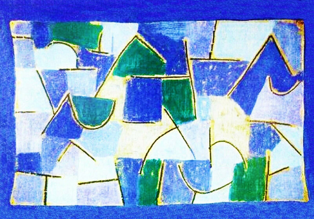 The Blue Night by Expressionist Artist Paul Klee Counted Cross Stitch Pattern