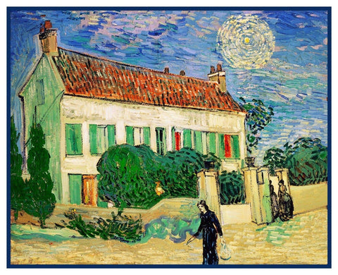 White House in the Sun by Vincent Van Gogh Counted Cross Stitch Pattern