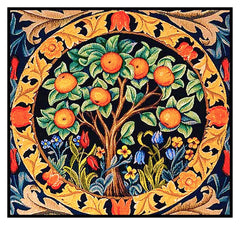 Orange Tree Detail Design by William Morris Counted Cross Stitch Pattern DIGITAL DOWNLOAD