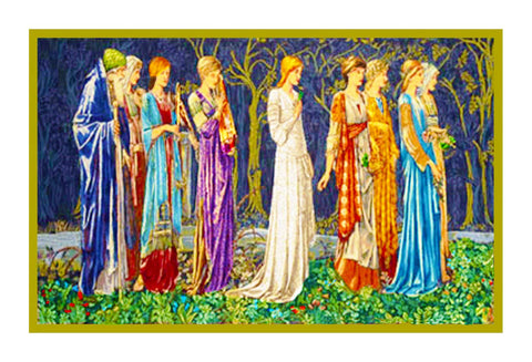 The Ceremony by William Morris Counted Cross Stitch Pattern DIGITAL DOWNLOAD