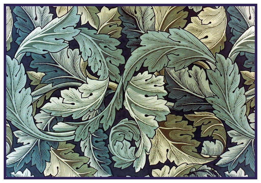 William Morris Blue Green Acanthus Vine detail Counted Cross Stitch Pattern DIGITAL DOWNLOAD