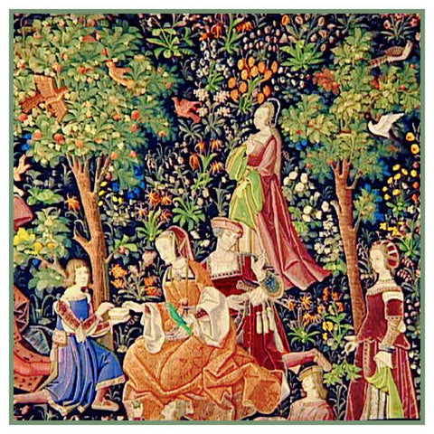 The Picnic From Medieval Tapestry Counted Cross Stitch Pattern
