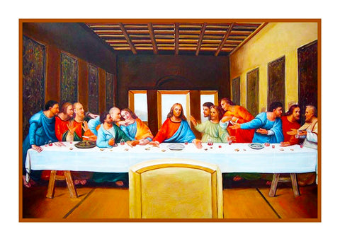 Religious Leonardo DaVinci's The Last Supper of Christ  Counted Cross Stitch Pattern