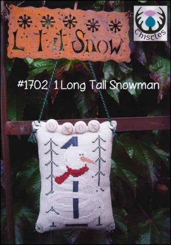 1 Long Tall Snowman  by Thistles Counted Cross Stitch Pattern