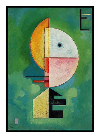 Upwards in Green by Artist Wassily Kandinsky Counted Cross Stitch or Counted Needlepoint Pattern