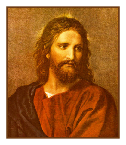 Jesus at 33 by Heinrich Hofmann detail  Counted Cross Stitch Pattern