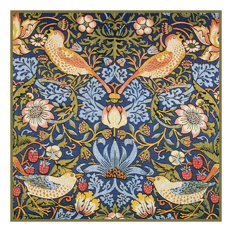 The Strawberry Thief design by William Morris Counted Cross Stitch Pattern DIGITAL DOWNLOAD