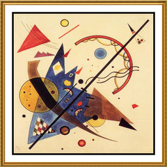 Arch and Point by Artist Wassily Kandinsky Counted Cross Stitch or Counted Needlepoint Pattern