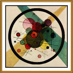 Circles in Circles by Artist Wassily Kandinsky Counted Cross Stitch or Counted Needlepoint Pattern - Orenco Originals LLC