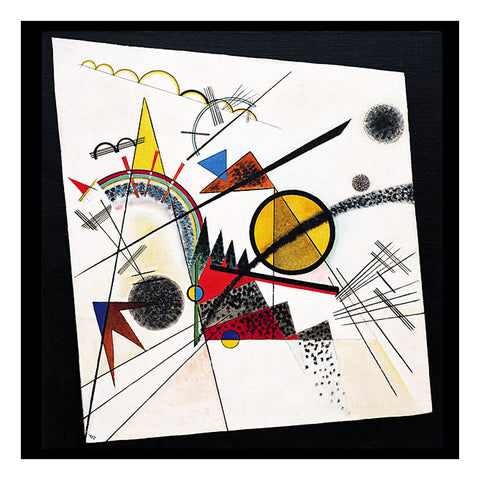 In The Black Square by Artist Wassily Kandinsky Counted Cross Stitch or Counted Needlepoint Pattern