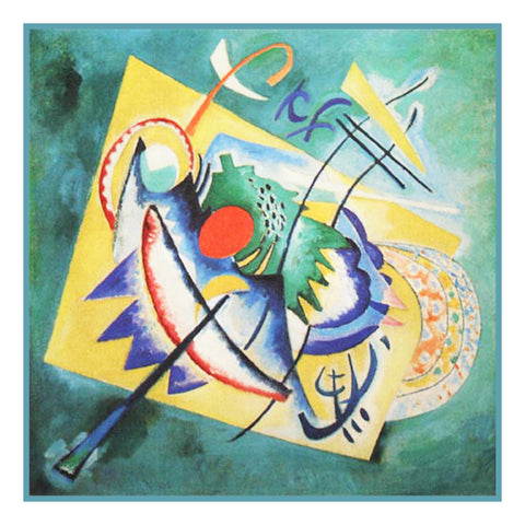 The Red Oval by Artist Wassily Kandinsky Counted Cross Stitch or Counted Needlepoint Pattern