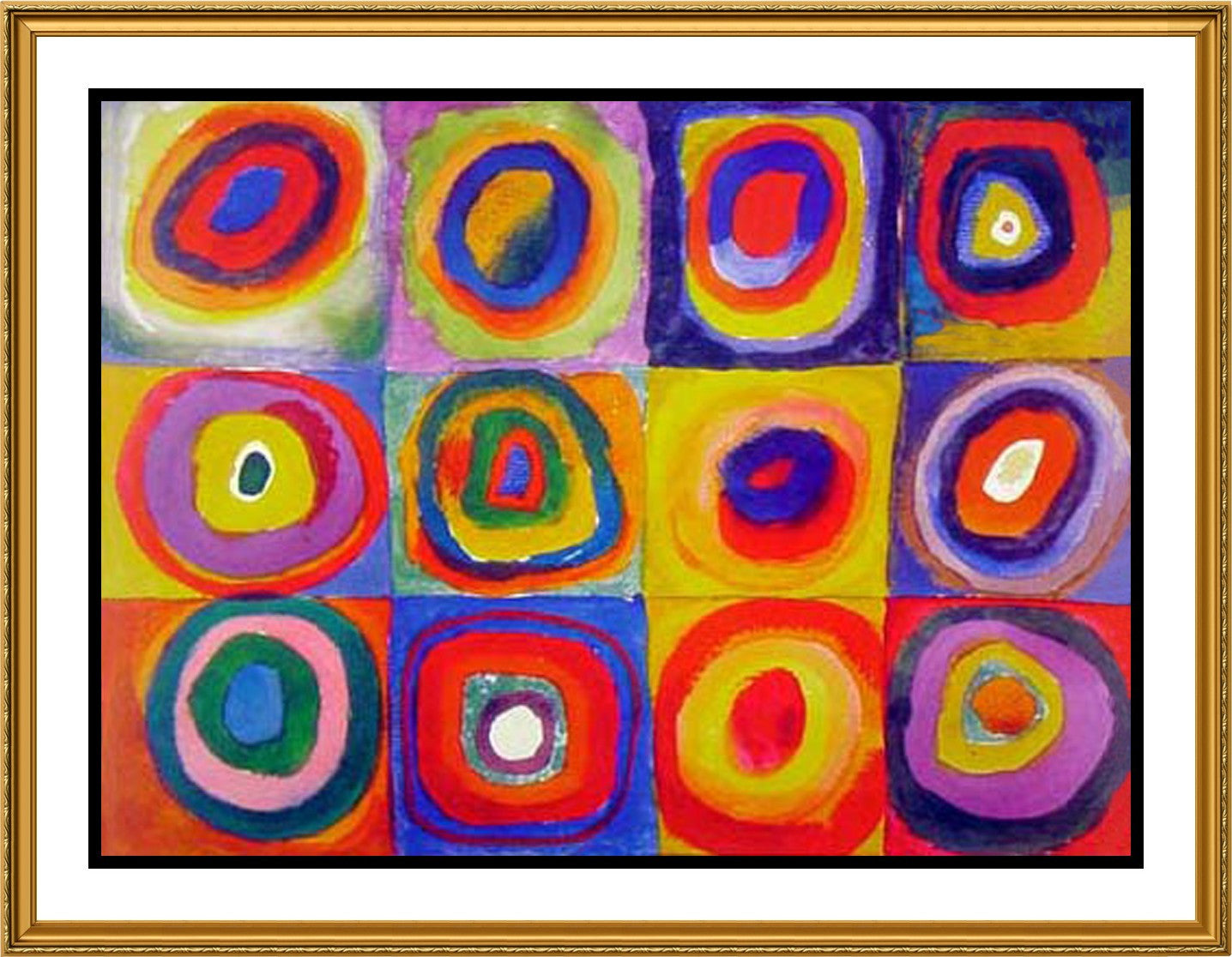 Concentric Circles By Artist Wassily Kandinsky Counted Cross Stitch Pattern