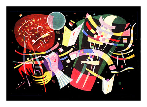 Composition X by Artist Wassily Kandinsky Counted Cross Stitch Pattern