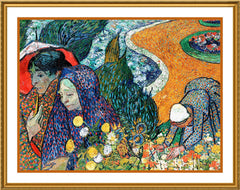 A Memory of Garden at Etten inspired by Vincent Van Gogh's Painting Counted Cross Stitch or Counted Needlepoint Pattern