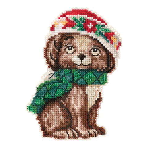 Christmas Puppy by Jim Shore Counted Cross Stitch Kit 5