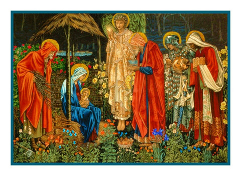 Adoration of The Magi by William Morris Counted Cross Stitch Pattern Digital Download