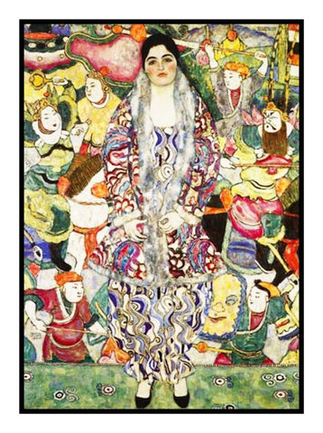 Symbolist Klimt Portrait Friderike Counted Cross Stitch Pattern