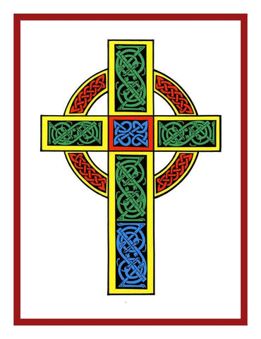 Celtic Knot Cross Irish Art Counted Cross Stitch Chart Pattern