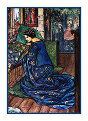 Pre Raphaelite Florence Harrison Dream Fair Maiden  Counted Cross Stitch Pattern