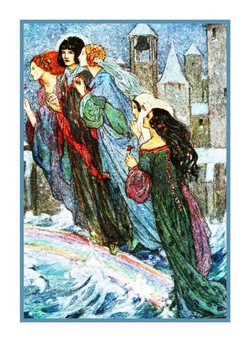 Raphaelite Florence Harrison Rainbow Ghost Fairy Counted Cross Stitch Pattern