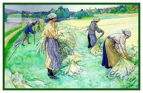 Carl Larsson's Working Fields Sundborn Counted Cross Stitch Chart Pattern