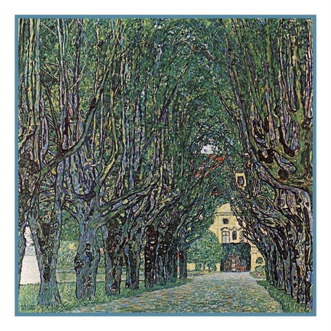 Art Nouveau Gustav Klimt Avenue Schloss Kammer Counted Cross Stitch Pattern