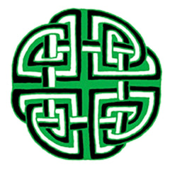 Celtic Knot Medallion Mendala in Green and Black Counted Cross Stitch Pattern