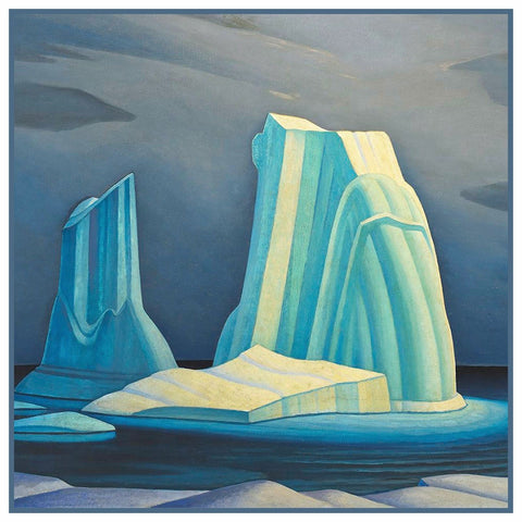 Breaking Ice Landscape by Canadian Lawren Harris Counted Cross Stitch Pattern